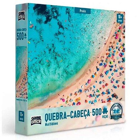 Quebra-Cabeça Multidões Praia 500 Peças - Game Office