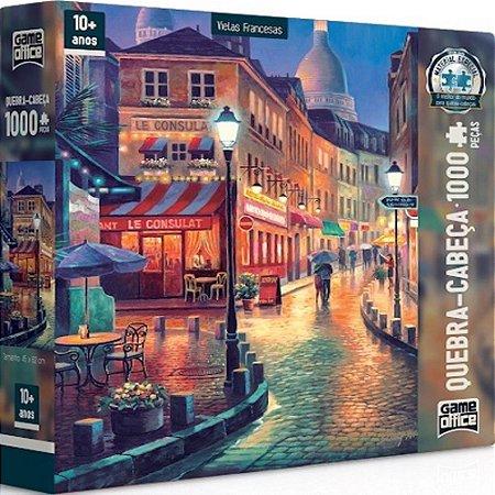Quebra-Cabeça Vielas Francesas 1000 Peças - Game Office