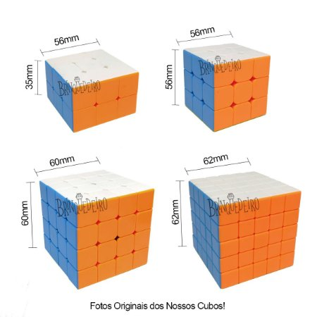 Cubo Mágico Conjunto com 4 Cubos Mágicos Básico ao Avançado
