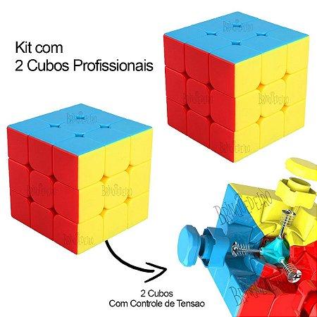 Cubo Mágico Profissional 3x3x3 Conjunto com 2 Cubo e Manual