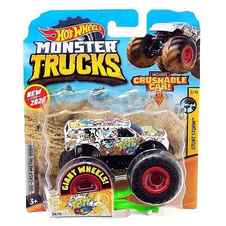 Três Carrinhos Hot Wheels Monster Trucks - Mattel