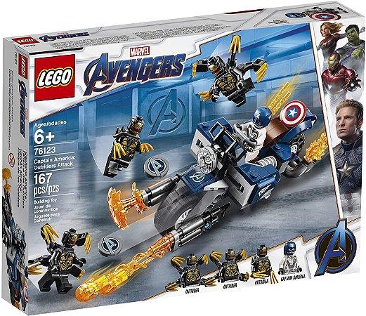 Capitão América Ataque Outriders 76123 - Lego Marvel