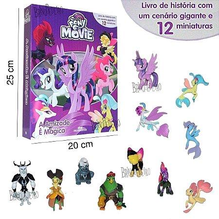 Livro My little com Miniaturas a Amizade é Magica 12 Bonecos