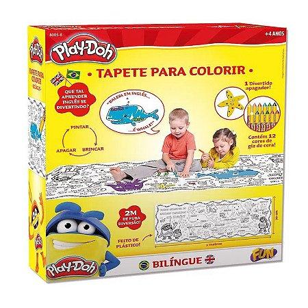Tapete Bilíngue para Colorir Play-Doh - Fun