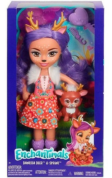 Boneca Enchantimals Danessa Deer e Sprint - Mattel