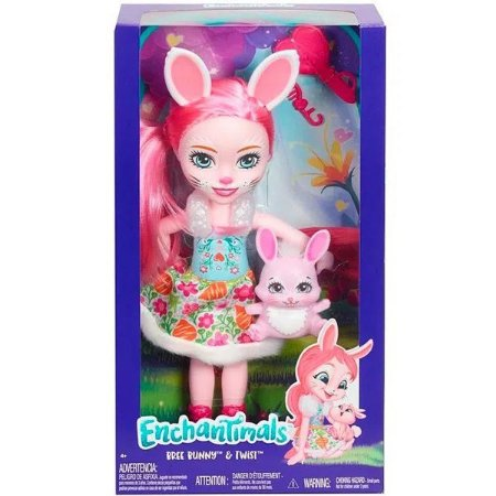 Boneca Enchantimals Bree Bunny e Twist - Mattel