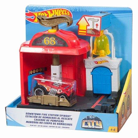 Pista Hot Wheels Manobra No Corpo de Bombeiros  - Mattel