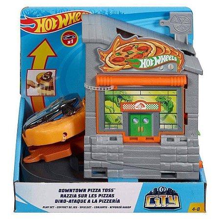 Pista Hot Wheels Ataque do Dino na Pizzaria  - Mattel