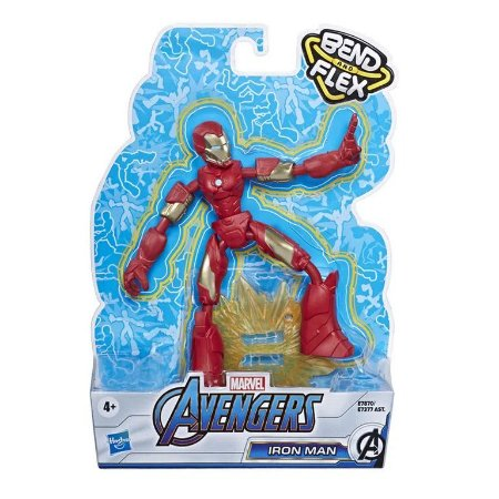 Boneco Homem de Ferro Vingadores Marvel Bend and Flex Hasbro