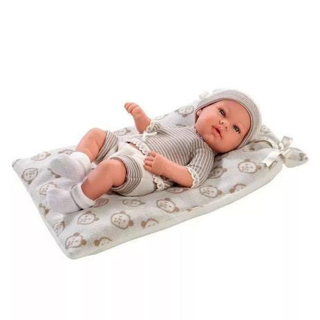 Boneca Bebê Reborn Menino 40 Cm Baby Rick Chalé de Ursinhos