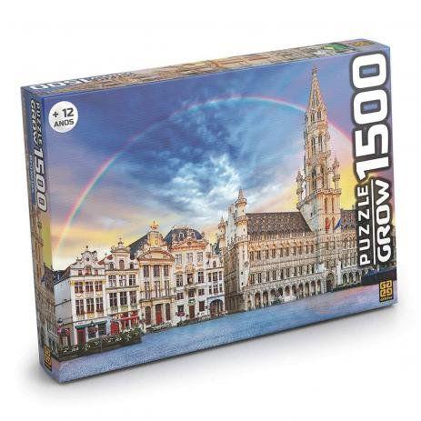 Jogo Quebra Cabeça 1500 Peças Bruxelas Grow
