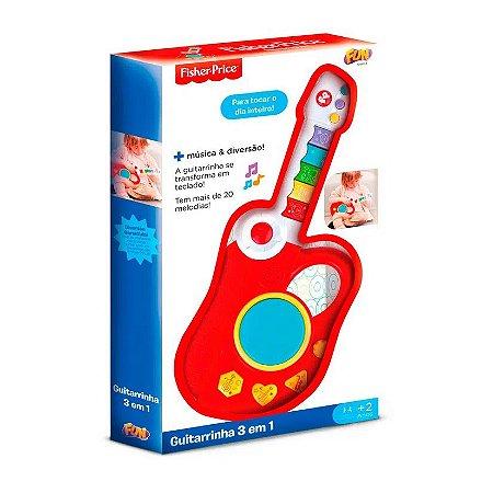 Brinquedo Guitarra Eletrônica Infantil 3 em 1 Fisher-Price