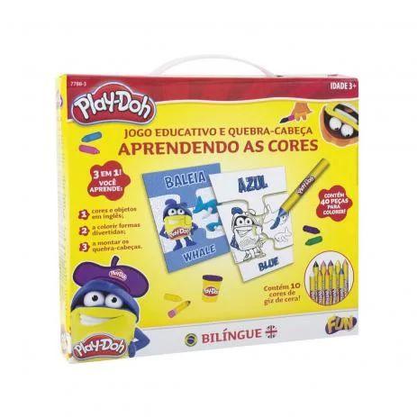 Jogo Educativo Aprendendo as Cores Bilíngue Play-Doh  Fun