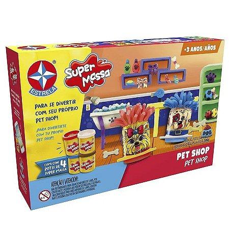 Brinquedo Super Massa Pet Shop Massinha de Modelar Estrela