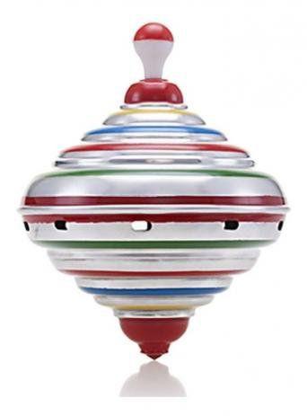 Brinquedo Pião Sonoro Retrô Médio Colorido 22Cm
