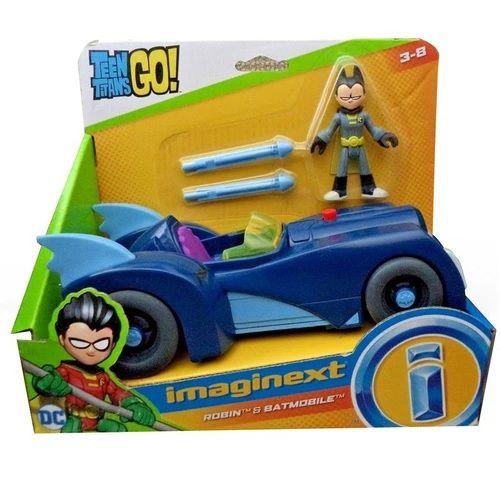 Boneco Jovens Titãs Robin e Batmóvel Imaginext - Mattel