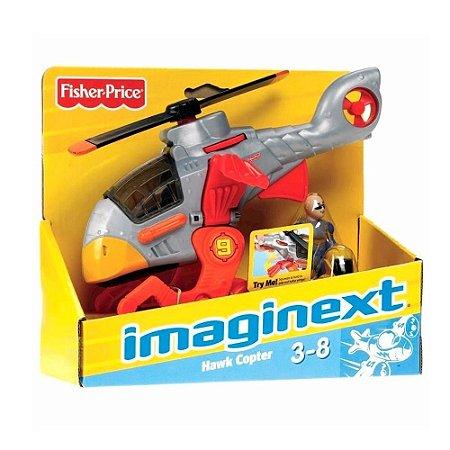 Boneco Helicóptero Sky Racer Imaginext - Mattel