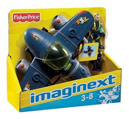 Brinquedo Avião Sky Racer Super Jato Imaginext Mattel