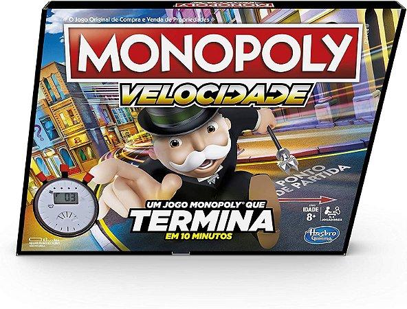 Jogo de Tabuleiro Monopoly Velocidade Original Hasbro Gaming