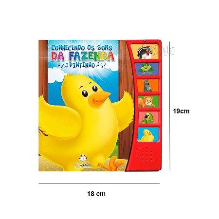 Livro Infantil Educativo Conhecendo os Sons Pintinho