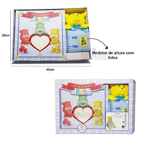 Album de Fotos Livro de Recordações Azul 44 fotos 29x29cm