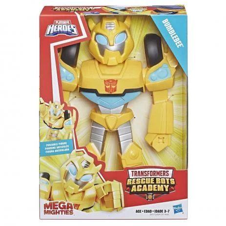 Boneco Transformers Bumblebee 25cm Heroes Mega Mighties