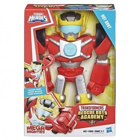 Boneco Transformers 25cm Hot Shot Heróis Mega Mighties