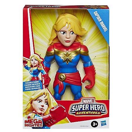 Boneco Capitã Marvel 25cm Articulado Super Heróis Hasbro