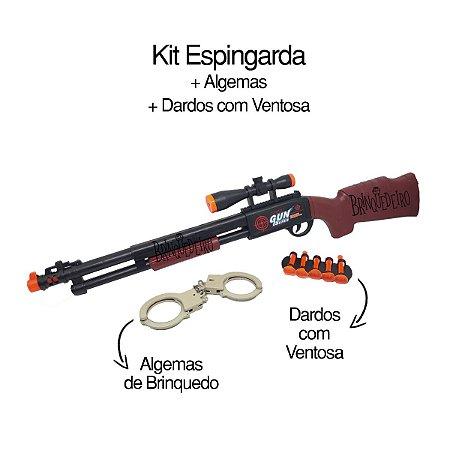 Arma de Brinquedo Lança Dardo com Acessórios
