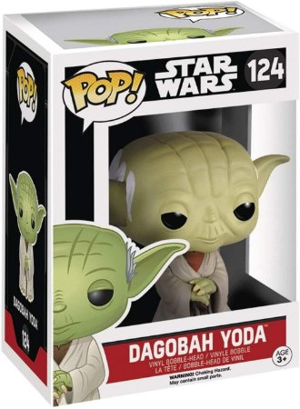 Pop Funko Boneco Star Wars Yoda Dagobah (124) Colecionável