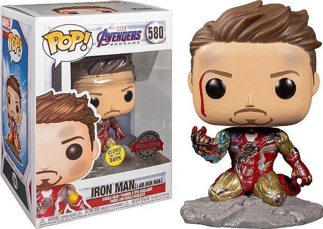 Pop Funko Homem de Ferro Brilha no Escuro Vingadores (580)
