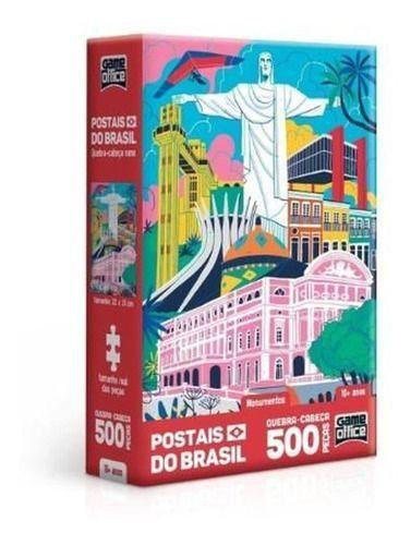 Quebra-Cabeça Nano Postais do Brasil Monumentos 500 Peças