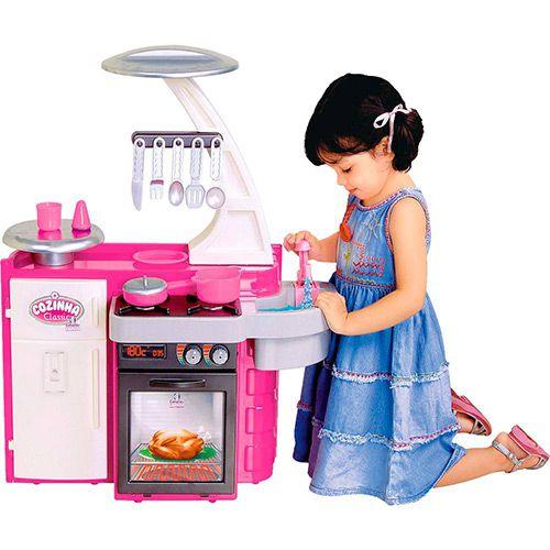 Cozinha Infantil Brinquedo Fogão Completa Geladeira Cotiplas