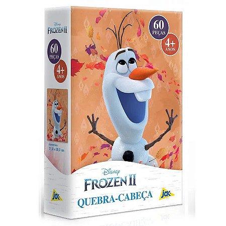 Jogo Quebra-Cabeça Infantil Frozen 2 Olaf 60 Peças Disney
