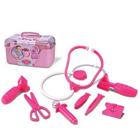 Brinquedo Maleta Rosa Médica Menina Completa
