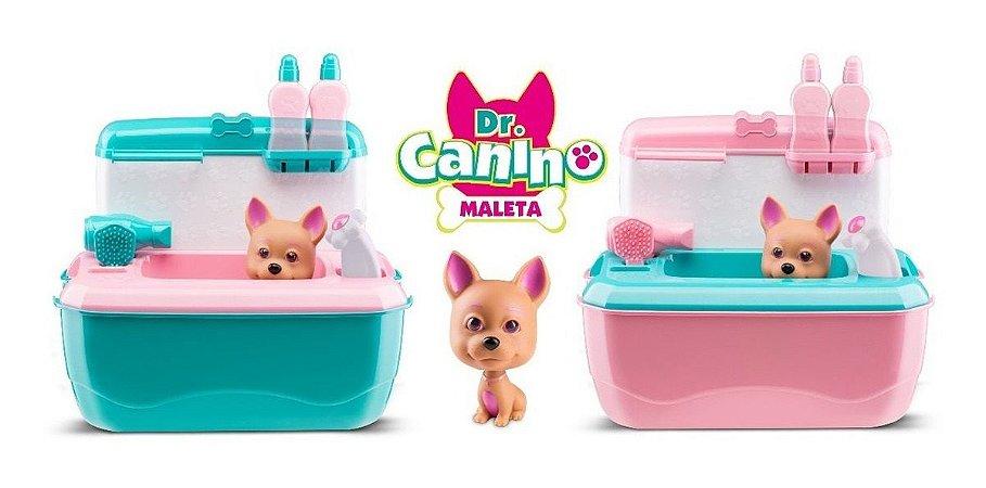 Brinquedo Pet Shop Maleta Doutor Canino Menina Sortida