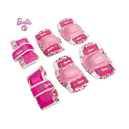 Kit de Proteção Barbie Joelheira, Cotoveleira, Munhequeira