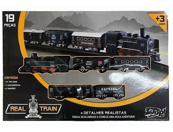 Brinquedo Trem Super Trilho Realista 19 Peças - Zoop Toys