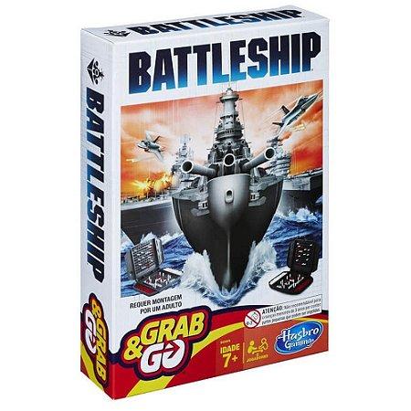 Jogo Batalha Naval Navio de Guerra Grab&Go - Hasbro