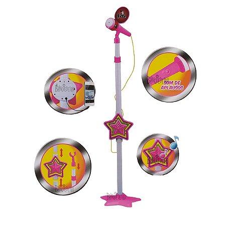 Microfone Rosa Karaokê Infantil Conecta no Celular