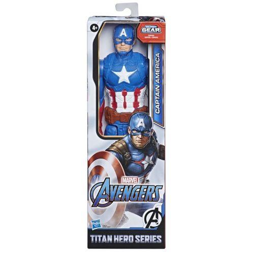 Boneco Capitão América Titan Heroes Series Blast Gear Hasbro