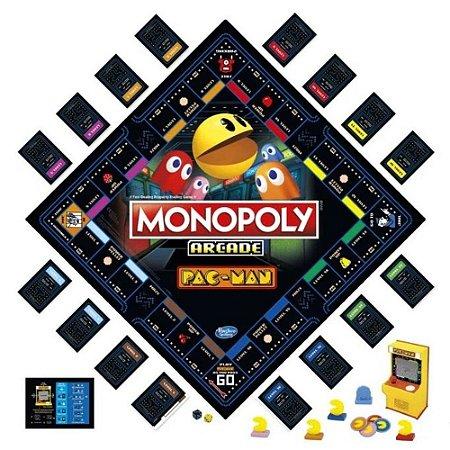 Jogo de Tabuleiro Monopoly Arcade Pac-man - Hasbro