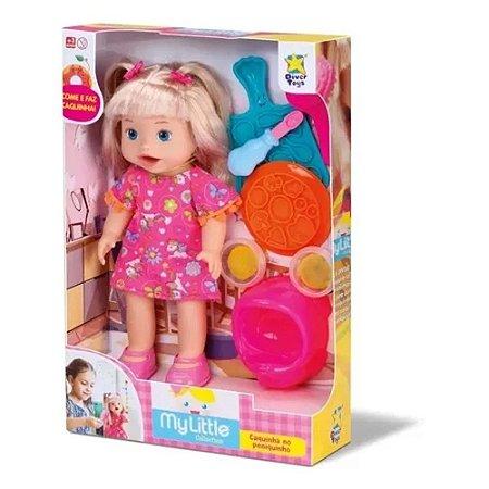 Boneca Bebê Loira Come e Faz Caquinha