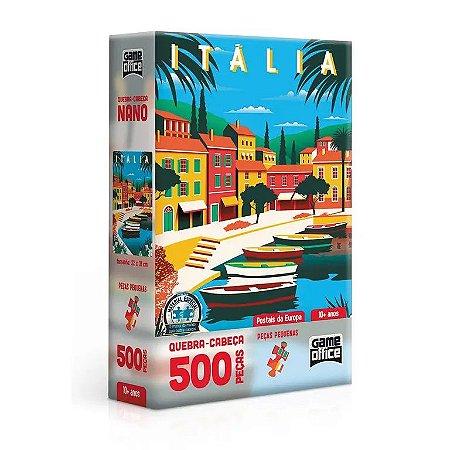 Quebra-Cabeça Nano Itália 500 Peças - Game Office