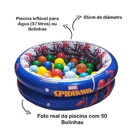 Piscina de Bolinha Infantil Homem Aranha com 50 Bolinhas