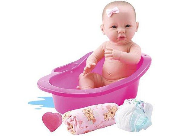 Boneca Bebê Reborn Banho de Carinho
