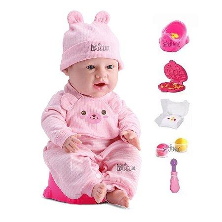 Boneca Bebê Reborn Come e Faz Caquinha