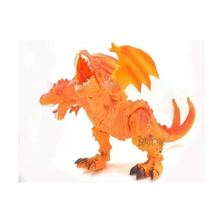 Brinquedo Dinossauro Com Duas Cabeças Som Luz Anda