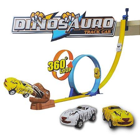 Brinquedo Pista de Carros Dinossauro 360 Loop Divertido