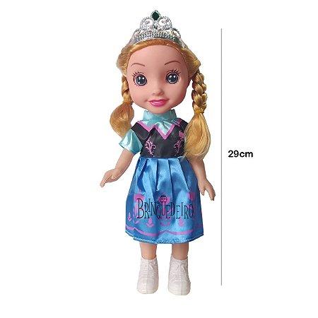 Boneca Princesa Anna Frozen Com Coroa